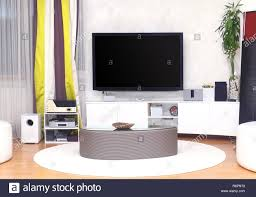 Large Tv Living Room Stock Photos Large Tv Living Room
