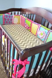ruffle flower crib quilt and pers set in hot pink turquoise lime green and