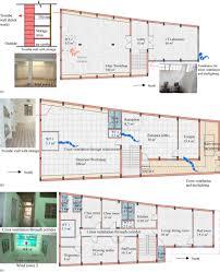 a basement floor plan b ground floor plan c first floor plan scientific diagram