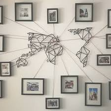 photo gallery of wall art map world viewing 11 45 photos and