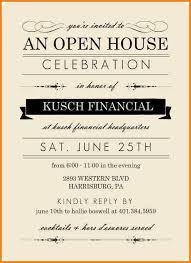 Open House Invite Samples Sample Open House Invitations