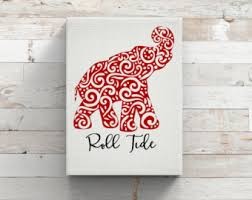 more colors on alabama elephant wall art with alabama decor etsy