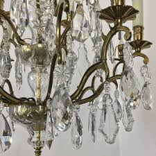 antique venetian brass and crystal chandelier