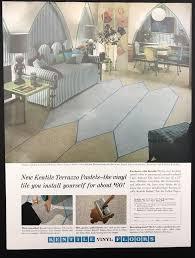 details about 1961 vintage print ad 1960s kentile vinyl floor home decoration style