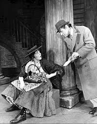 pyg on play  julie andrews as flower girl eliza doolittle meets rex harrison as professor henry higgins in the 1956 musical adaptation of pyg on my fair lady