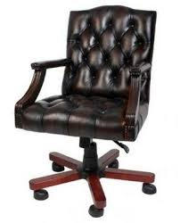 luxury office chair. luxury executive style chair in soft genuine brown leather exterior office