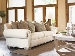 Tommy Bahama Living Room Furniture Road To Canberra Ellerston Rolled Arm Loose Back Sofa With