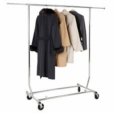 Adjustable Coat Rack HLC Adjustable Commercial Grade Clothing Garment Rack Chrome 100