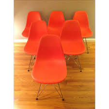 eames molded plastic dining chair. eames molded plastic dining chairs - set of 6 image 7 chair .