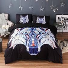 dark blue bedding mandala flowers elephant duvet cover set black dark blue bedding set queen vintage soft quilt cover 1 duvet cover 2 pillowcase dark blue