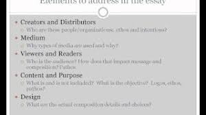 analyzing visual argument essay example   homework for youvideo