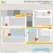 card recipe 4x6 recipe card templates 1