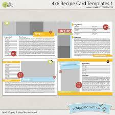 4x6 Recipe Card Templates 1