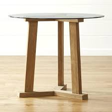 wood high top table round high dining table with glass top crate and barrel new pertaining