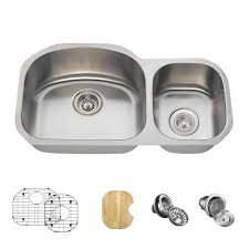 Mr Direct All In One Undermount Stainless Steel 32 In Left Double