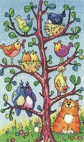 Bird Watching Birds Of A Feather Cross Stitch Chart