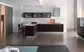 Soft Flooring For Kitchen Modern Home Kitchen Design Ideas With Dark Brown Cabinet Also