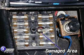 meltedfusebox jpg How To Fix A Fuse Box In A Car s30 early z car fuse block melt down problem how to fix a fuse box in a car