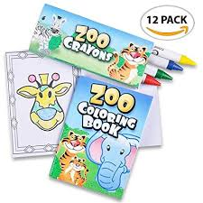 artcreativity zoo s mini coloring book kit 12 sets each set includes 1