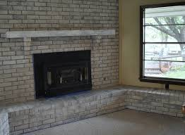 gray brick fireplace design white wash with
