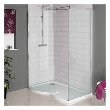 hydrolux 1400 x 900mm curved walk in shower enclosure 6mm glass with stone tray
