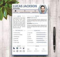 Stylish Resume Template For Ms Word ~ Resume Templates ~ Creative Market