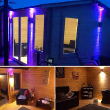 summer house lighting. This Show-stopping Summerhouse Transforms Into A Spectacular Den At Night.  Get The Look By Adding Lights To Exterior Of Summerhouse. Summer House Lighting W