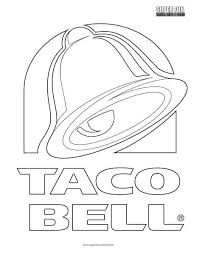 Taco Bell Logo Coloring Page Super Fun Coloring