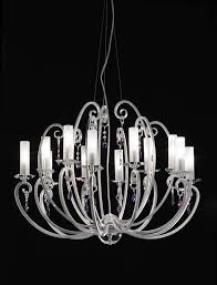 valentina ceiling lamp 12 arm chandelier bobeches and crystal pendants