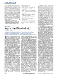 Light Diffraction Limit Pdf Light Microscopy Beyond The Diffraction Limit