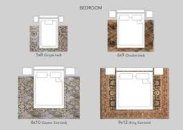 ideal rug sizes for your bedroom