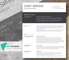 Modern Cv Template Word Free Download Amazing Design Free Creative
