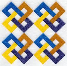 Friendship Chain Quilt Block - 4 Block Lg | quilting project ... & Friendship Chain Quilt Block - 4 Block Lg Adamdwight.com
