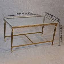 coffee table art deco brass glass top midcentury retro and vintage coffee tables