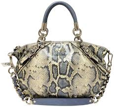 ... discount coach python embossed leather trim madison sophia satchel in  light blue 0c7f5 5bc61 official coach madison embossed medium ...
