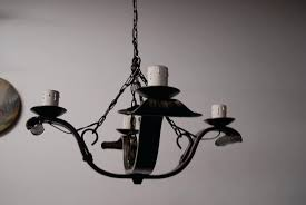 spanish iron chandelier an old wrought iron 4 light chandelier antiques collectibles and decorations ruby