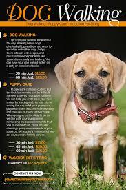 design a flyer for dog walking company lancer 10 for design a flyer for dog walking company by tduongvn