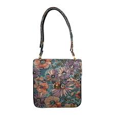 incredible vintage bags by varon hand painted leather flower purse handbag for