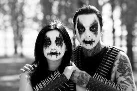 black metal face makeup