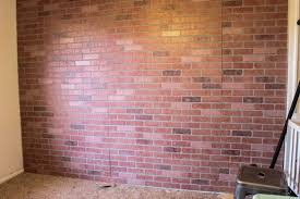 faux brick wall panels installed