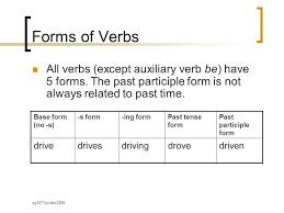form of be verb verb forms ppt video online download