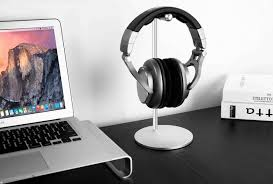 universal diy solid premium aluminum headphone stand attractive durable headset hanger earphone holder base decorating desktop
