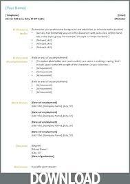 Word 2003 Resume Templates Directory Resume Sample