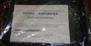 toyota denso oem air purifier newcelica org forum instruction exists