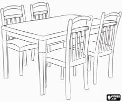 table and chairs drawing. table and chairs drawing a