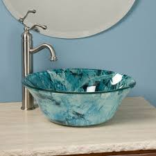 bathroom vessel sinks and faucets. teal glass bowl craft vessel sink with nickel brushed faucet. bathroom. bathroom sinks and faucets o