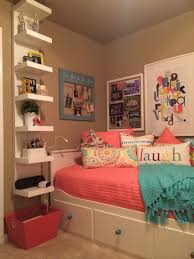 Small Teenage Bedroom Designs Teenage Daughters Complete Small Coral And Teal Bedroom