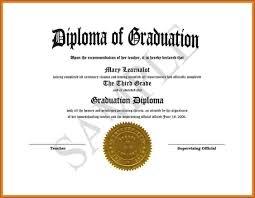 Free Editable High School Diploma Templates Template 1 Resume