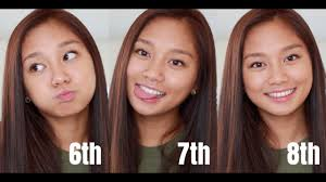 6th 7th 8th grade makeup tutorial back to rachel lam