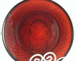 red plates cristal d arques durand plates ruby red dinner